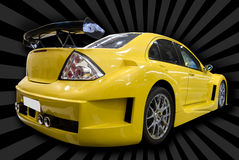 Yellow customized car Royalty Free Stock Photography