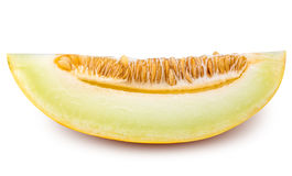 Yellow cut melon isolated on white background Royalty Free Stock Images