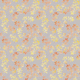Yellow cute leaves. Retro watercolor autumn seamless pattern. Vintage design Royalty Free Stock Photo