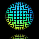 Yellow and cyan textured ball. Royalty Free Stock Photos