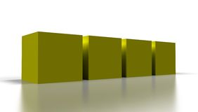 Yellow 3D cubes Stock Images