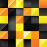 Yellow 3d square background. Yellow and orange 3d square background, colorful geometric pattern for banner design Stock Photo