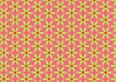 Yellow Daisies on Pink Pattern royalty free stock photos