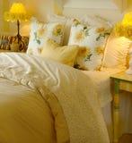 Yellow daisy bedroom Stock Photo
