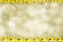 Yellow Daisy Framed Border Royalty Free Stock Images