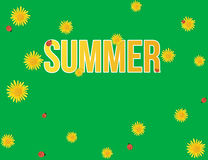 Yellow dandelions summer background. Design Royalty Free Stock Photo