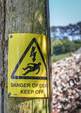 Danger of Death Warning Sign Stock Images