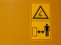 Yellow danger signs Royalty Free Stock Photo