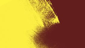 Yellow and dark red paint brush strokes background. Yellow and dark red paint background texture with grunge brush strokes royalty free stock photos
