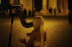 Yellow, Darkness, Light, Musical Instrument Royalty Free Stock Image