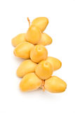 Yellow dates royalty free stock photo