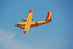 Yellow De havillandDHC-5 Buffalo aircraft Royalty Free Stock Images