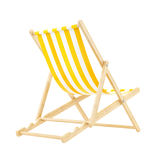 Yellow deck chair Royalty Free Stock Image