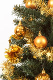 Yellow decorated christmas tree Royalty Free Stock Photos