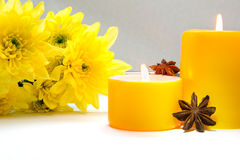 Yellow decoration for spa Royalty Free Stock Image