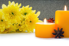 Yellow decoration for spa Royalty Free Stock Photo