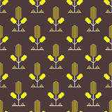 Yellow decorative pattern Stock Images