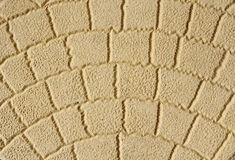 Yellow decorative tile  closeup Royalty Free Stock Images