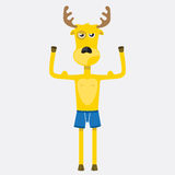Yellow deer Royalty Free Stock Photo