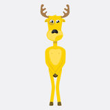 Yellow deer Royalty Free Stock Photos