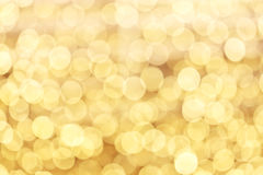 Yellow defocused lights background Royalty Free Stock Photography