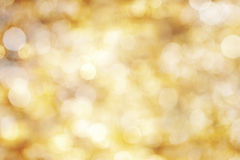 Yellow defocused lights royalty free stock images