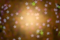 yellow defocused star background (Bokeh), blur focus Royalty Free Stock Photography