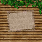 Yellow, delicate paper, on wooden boards Stock Image