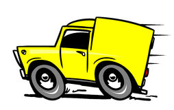 Yellow delivery car Royalty Free Stock Photography