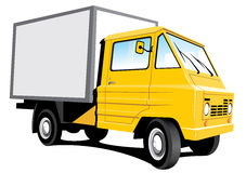Yellow delivery truck Stock Photography