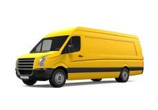 Yellow Delivery Van Stock Photos