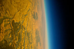 The Planet Earth from orbit dying from global warming Stock Images