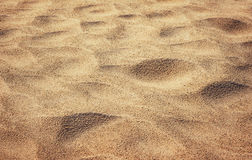 Yellow desert sand closeup background Royalty Free Stock Photography