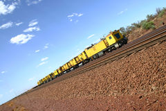 Yellow desert train Stock Photos