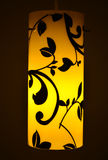 Yellow designer cylindrical lamp Stock Image