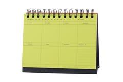 Yellow Desk Calendar Note Stock Image