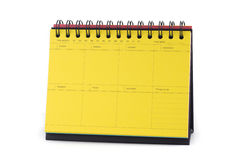 Yellow Desk Calendar Note Stock Images