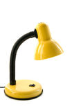 Yellow desk lamp. Isolated on a white background Stock Photos