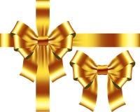 Yellow detailed bow Stock Photos