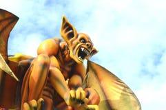 Yellow devil at Viareggio Carnival Stock Image