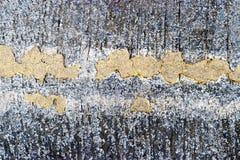 Yellow diagonal line on the concrete street surface. Stock Photo