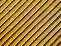 Yellow diagonal lines wall Stock Images