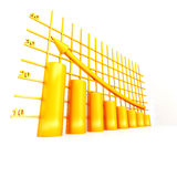 Yellow diagram Royalty Free Stock Photo