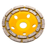 Yellow Diamond disk for a concrete abrasion Stock Photography