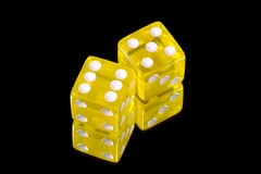 Yellow Dice royalty free stock photography