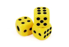 Yellow Dice Stock Photos