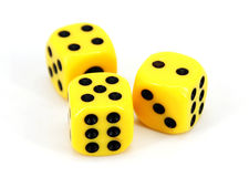 Yellow Dice Stock Photo
