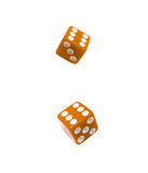Yellow dices Royalty Free Stock Photos