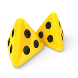 Yellow dices Royalty Free Stock Photo