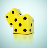 Yellow Dices Stock Images